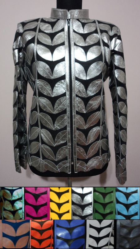 Plus Size Leather Leaf Jackets for Woman [ Click to See Available Colors ]